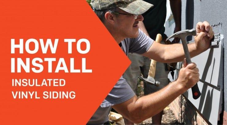 install insulated vinyl siding